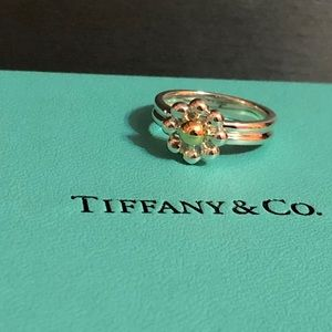 Tiffany & Co Picasso 18kYG/925 bead flower ring